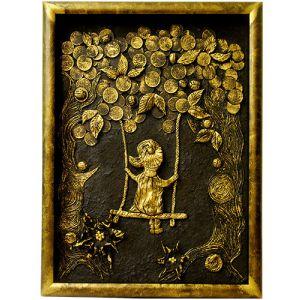 Декоративное панно «Девочка на качелях»